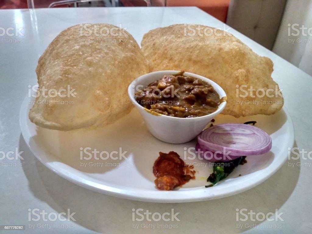 chana Bhatura stock photo
