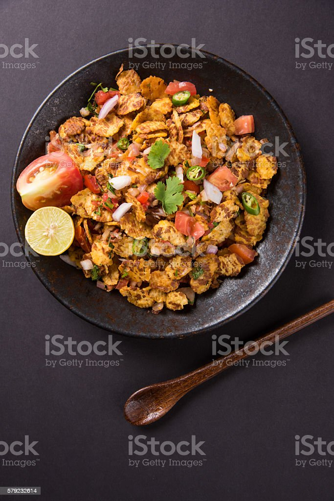 chana chor garam indian street food stock photo