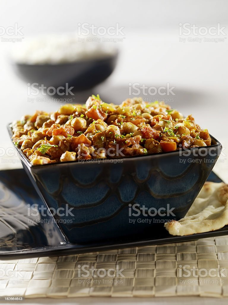 Chana Masala, an Indian Vegetarian dish royalty-free stock photo