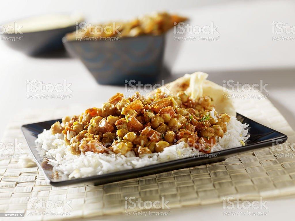 Chana Masala, an Indian Vegetarian dish stock photo