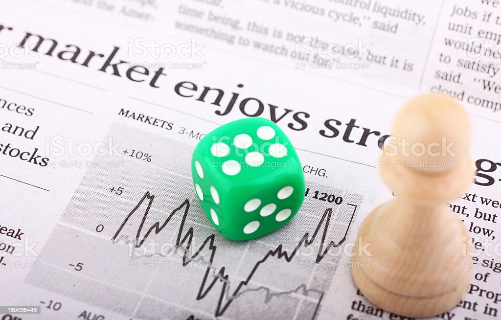 Chance and strategy in stock market stock photo