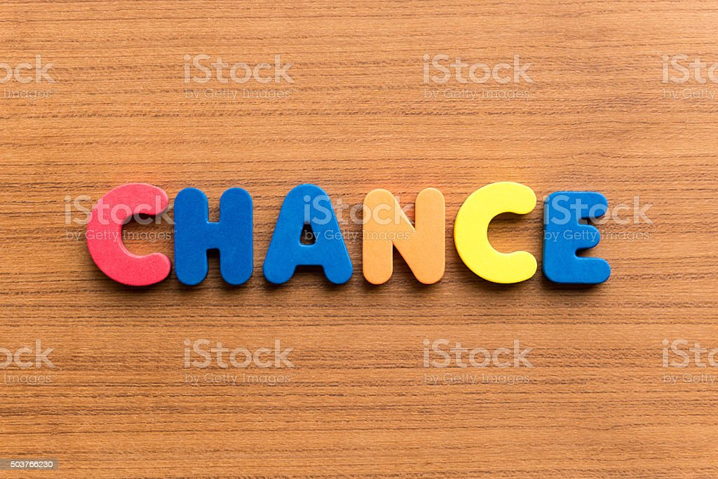 chance colorful word stock photo