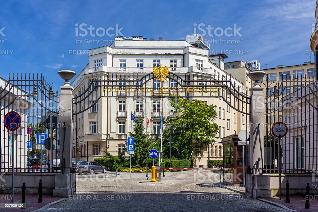 Chancellery of the President of the Republic of Poland stock photo