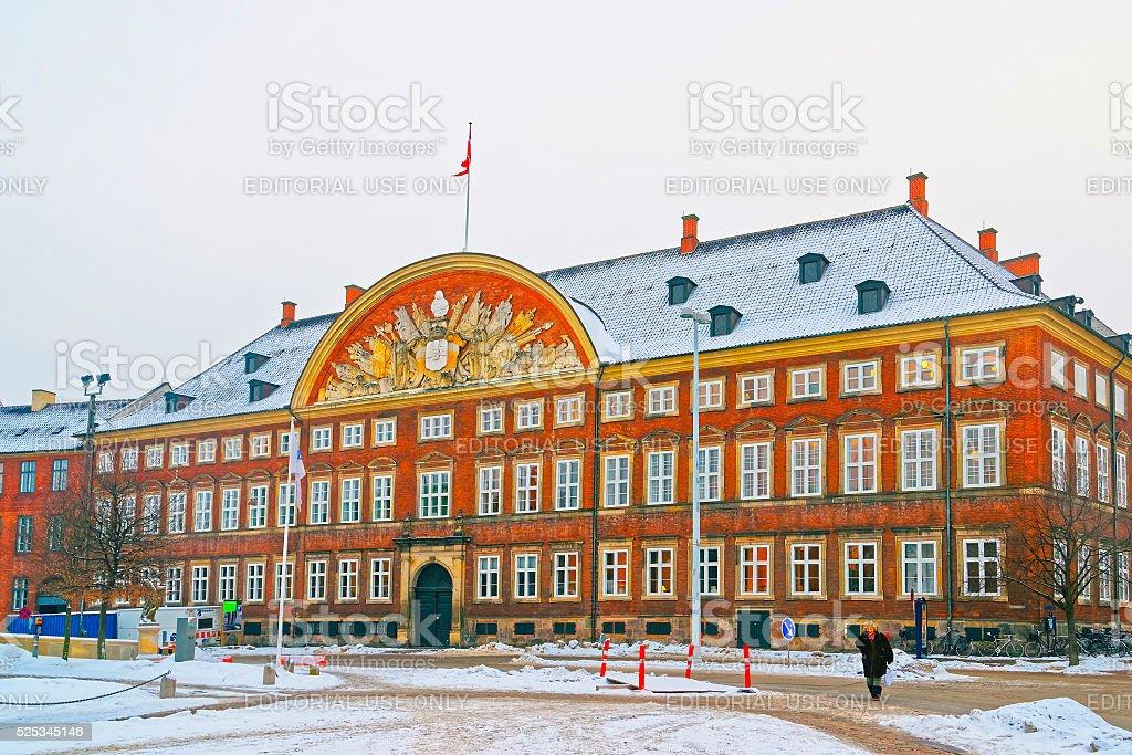Chancery building in Copenhagen in winter stock photo