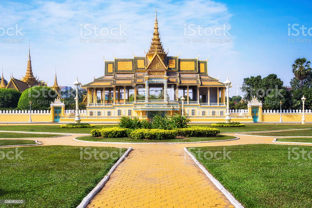 Chanchhaya Pavilion at the Royal Palace in Phnom Penh, Cambodia. stock photo