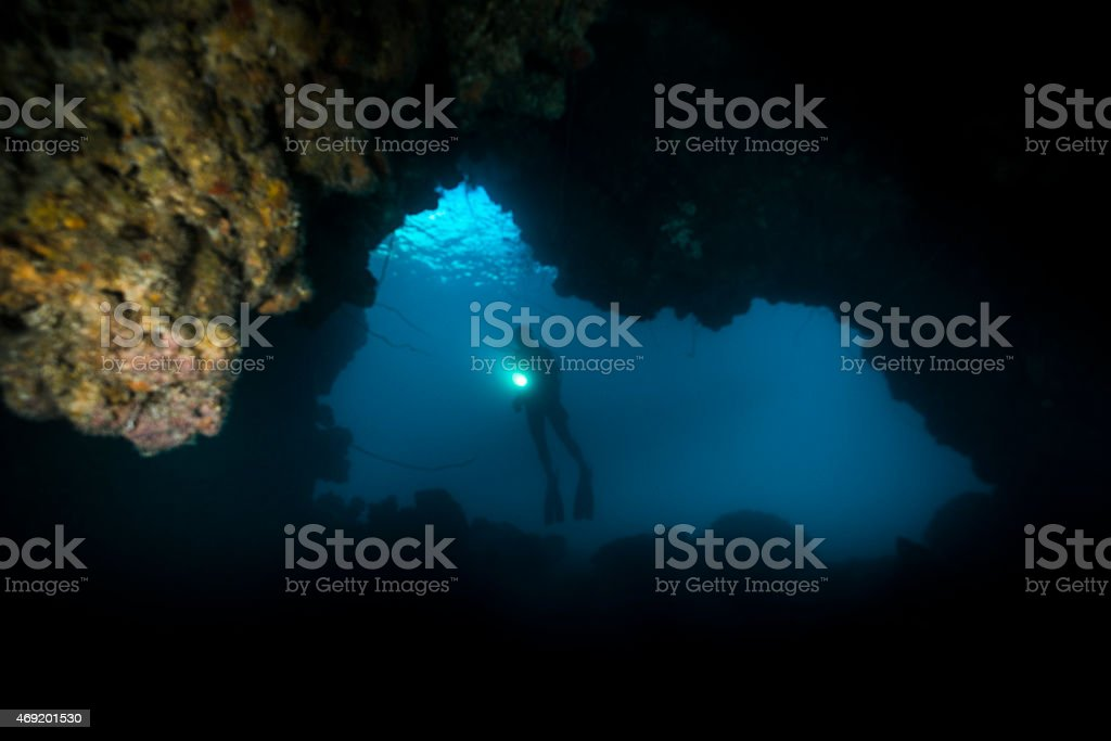 Chandelier Cave - Palau stock photo