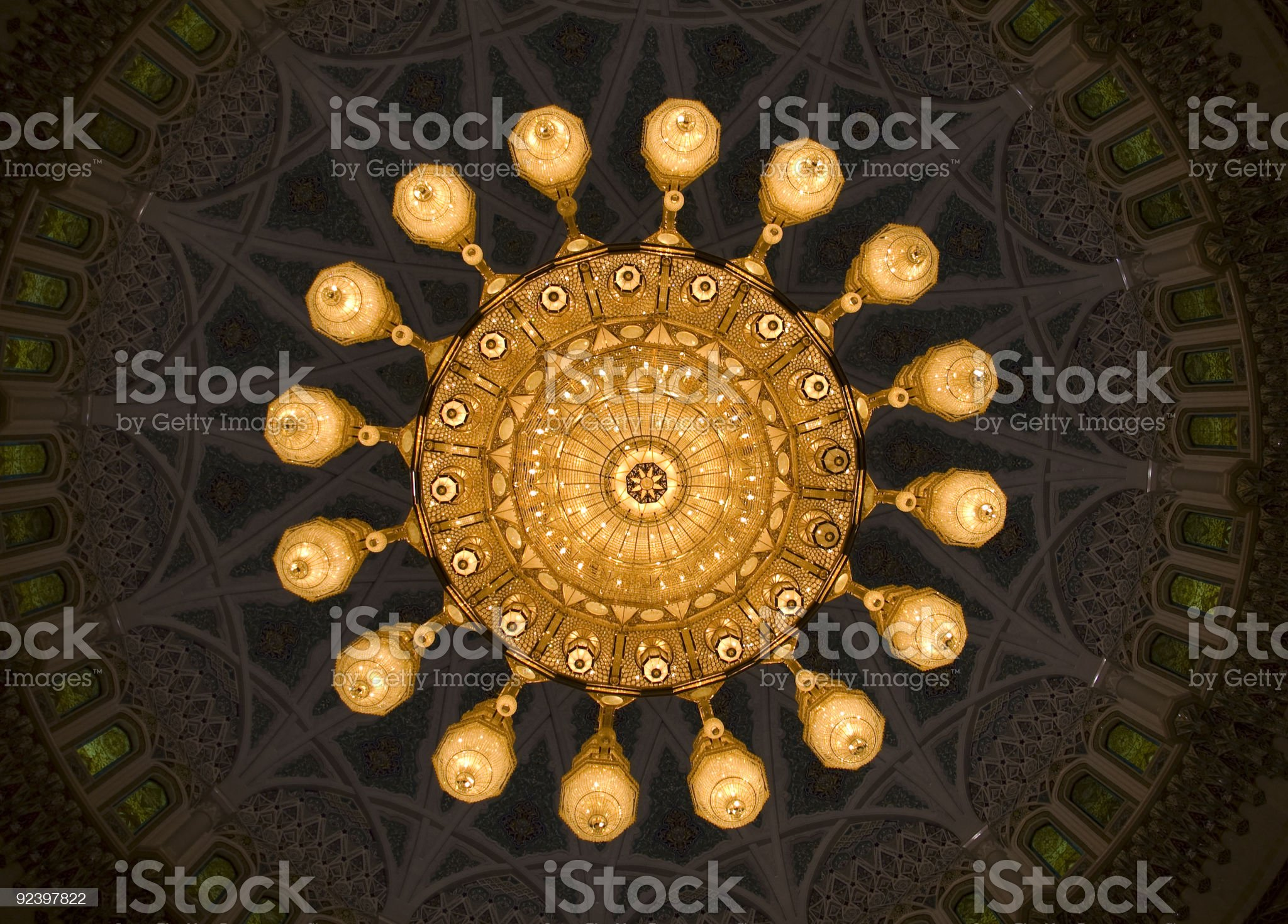 Chandelier, Grand Mosque, Muscat royalty-free stock photo