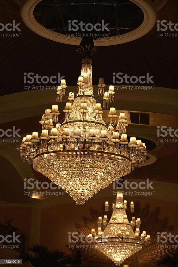 Chandelier in a Hotel royalty-free stock photo