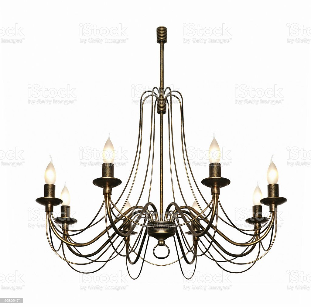 Chandelier in classical style (isolated) royalty-free stock photo