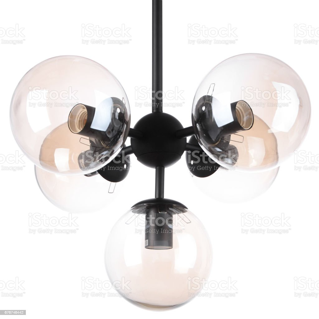 Chandelier isolated stock photo