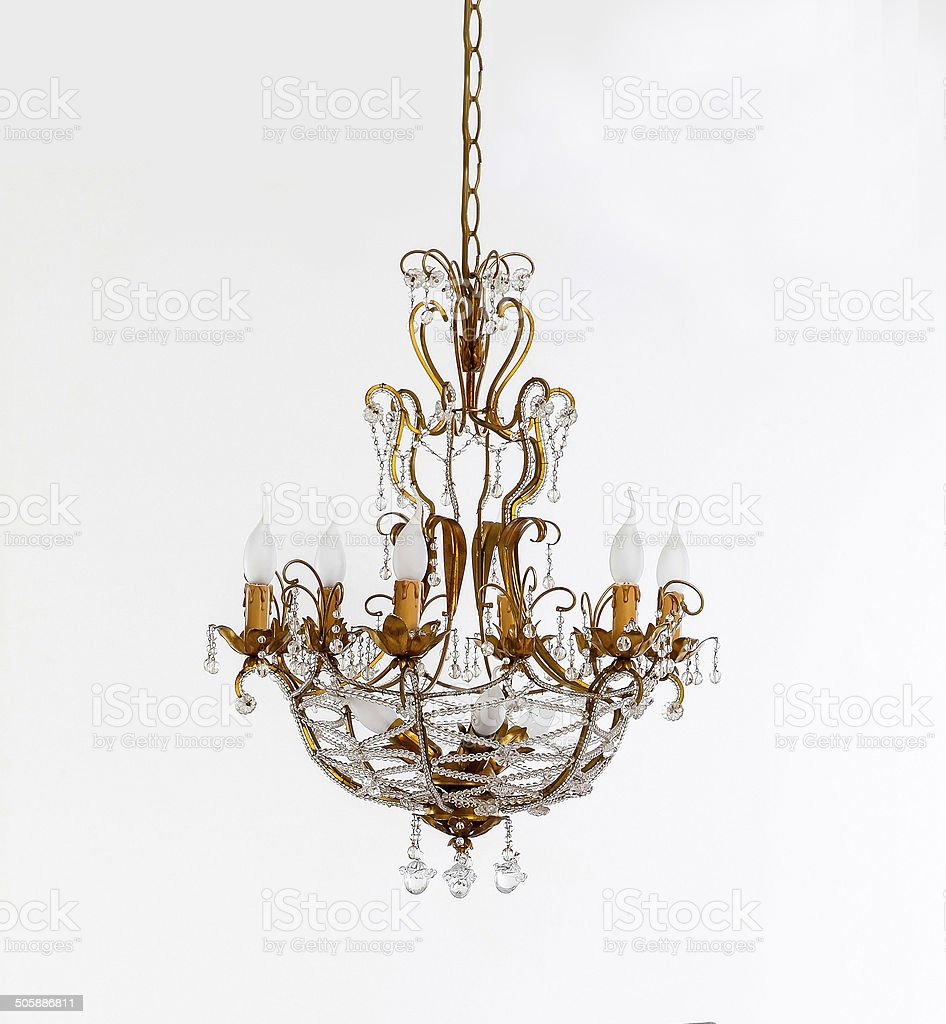chandelier on white backgrounds stock photo