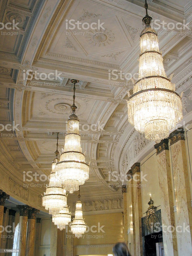 chandelier stock photo