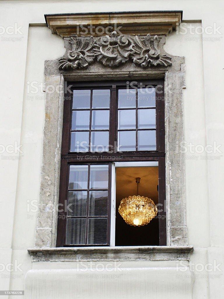 chandelier window royalty-free stock photo
