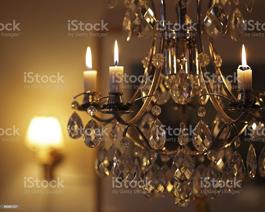 Chandelier with candles royalty-free stock photo
