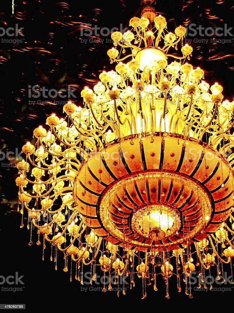 chandelier with multiple bulbs mounted individually royalty-free stock photo