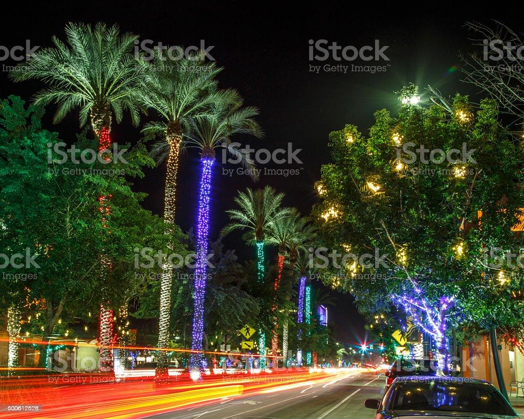 Chandler Christmas At Night stock photo