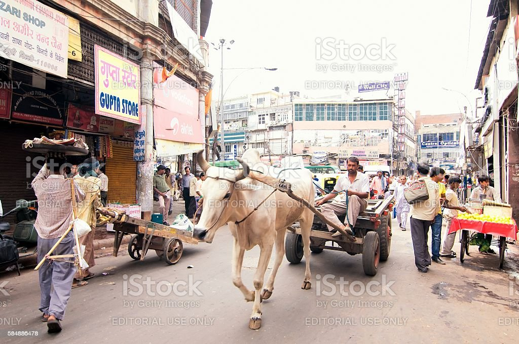 Chandni Chowk market, Old Delhi, India stock photo