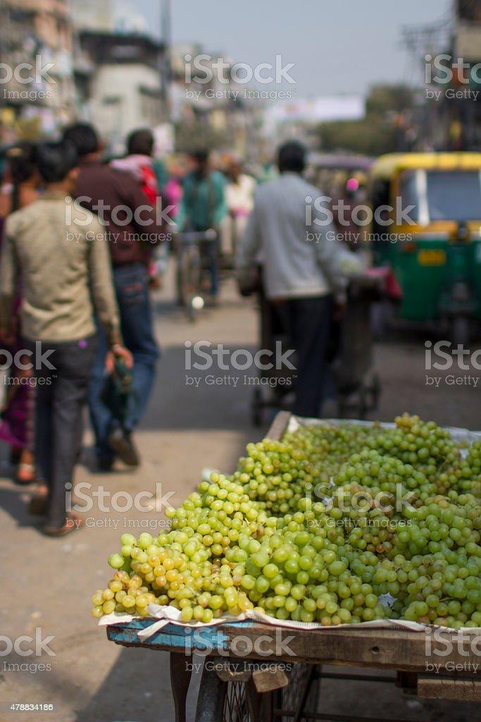 Chandni Chowk, market stall stock photo