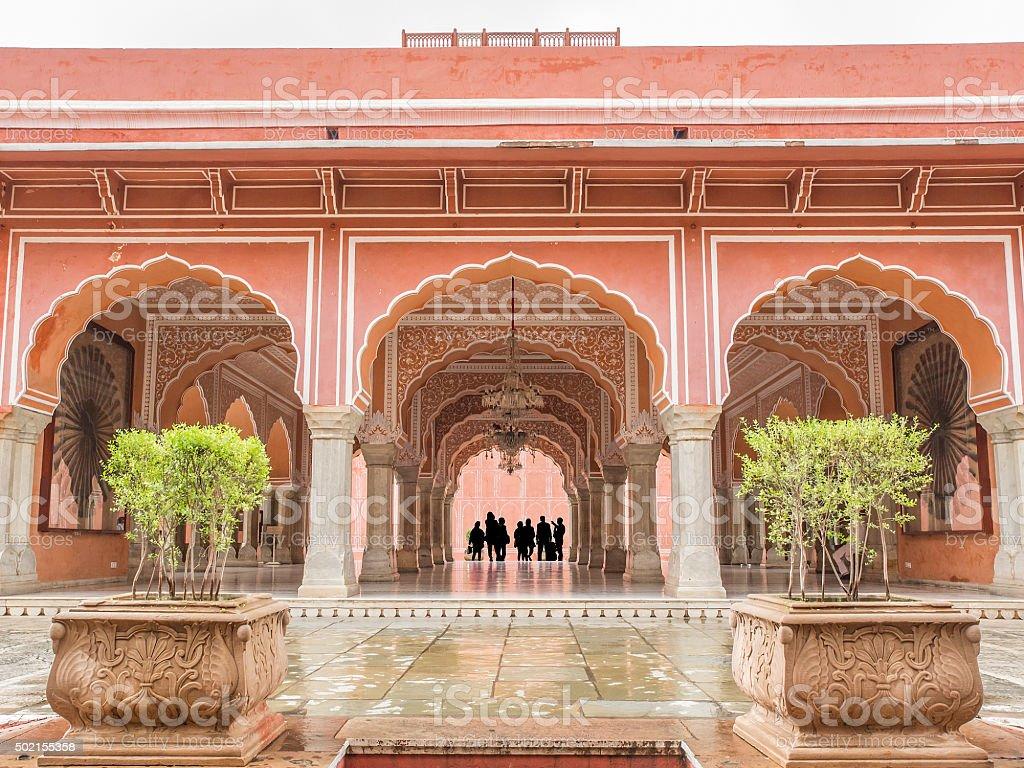 Chandra Mahal nel City Palace, Jaipur, India stock photo