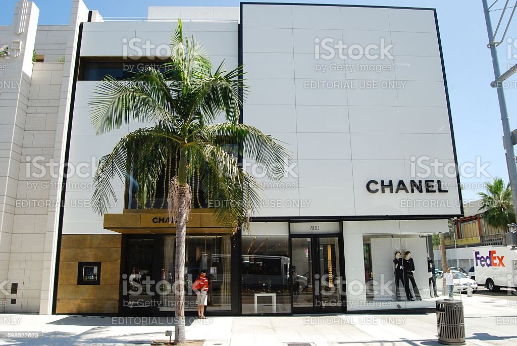 Chanel - Beverley Hills. stock photo