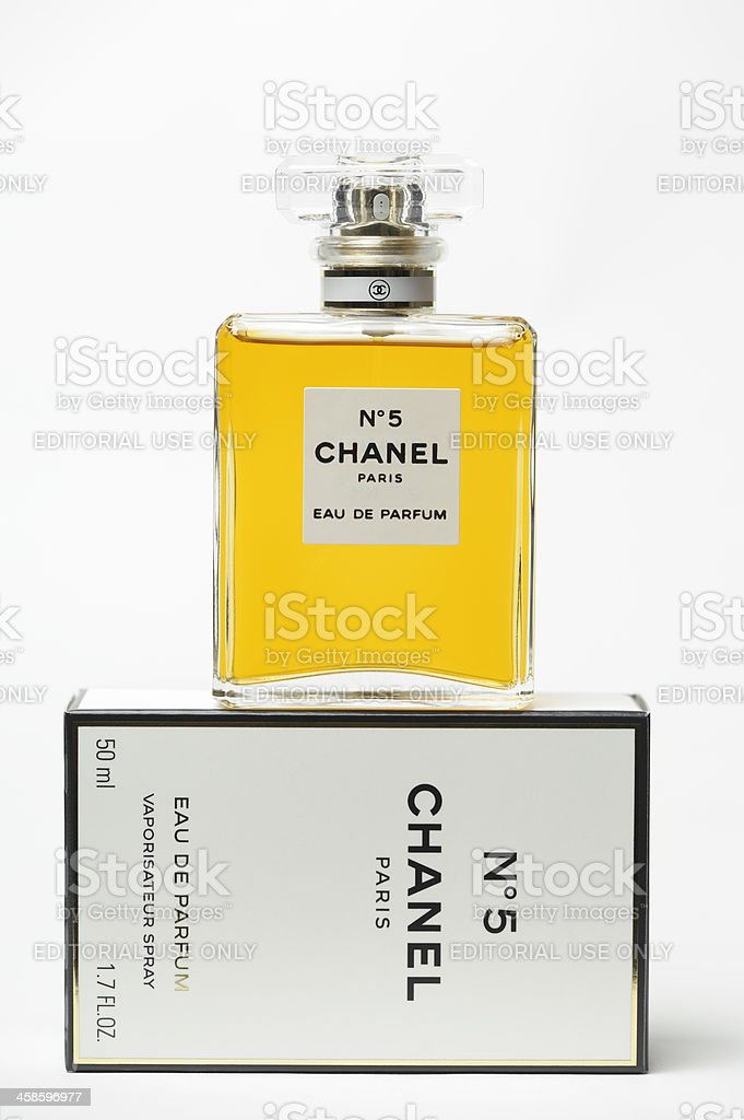 Chanel No 5 Perfume stock photo