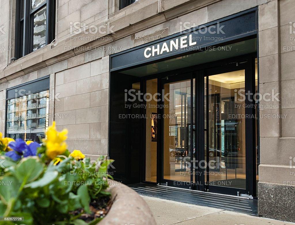 Chanel Store, Gold Coast, Chicago stock photo