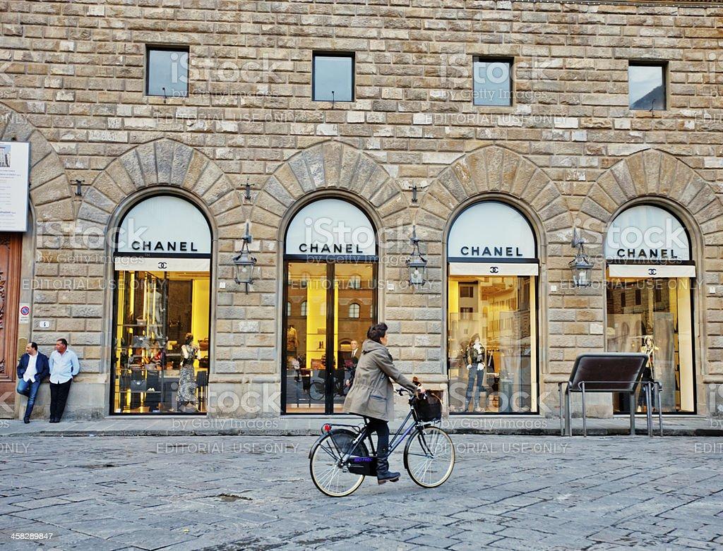 Chanel Store in Florence, Piazza della Signoria, Italy royalty-free stock photo