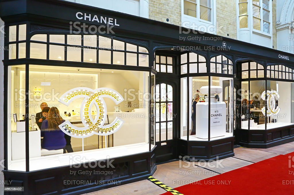 Chanel store in London stock photo