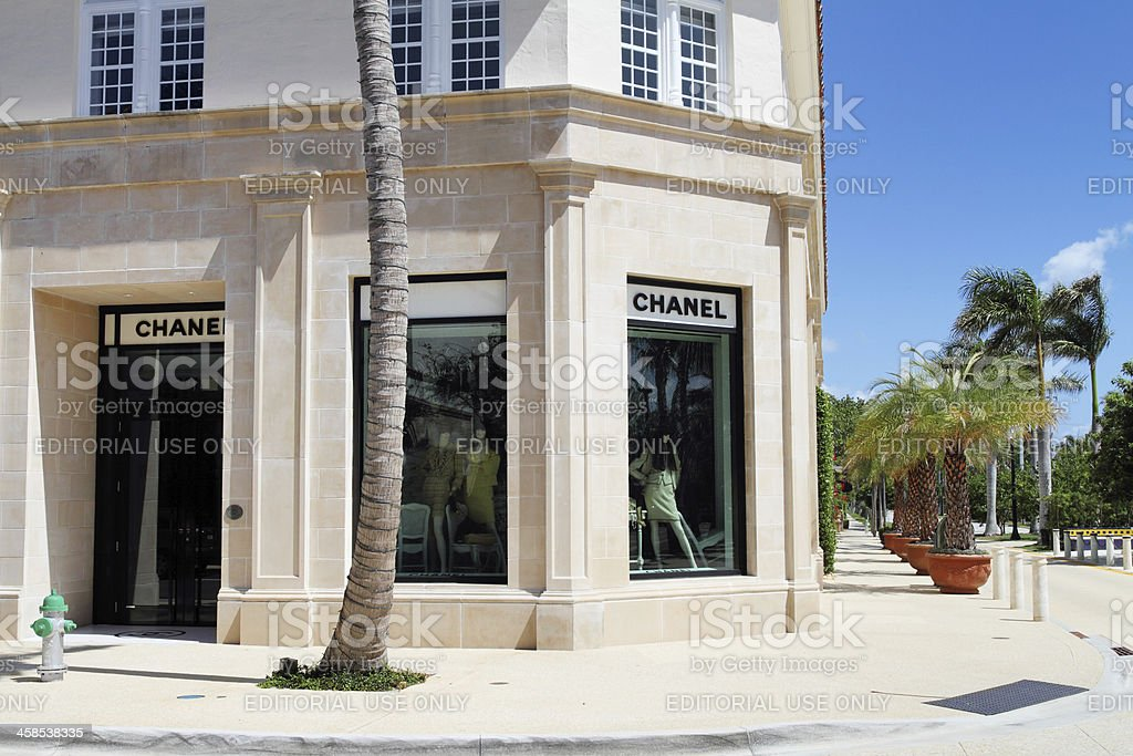 Chanel store on Worth Ave, Palm Beach stock photo