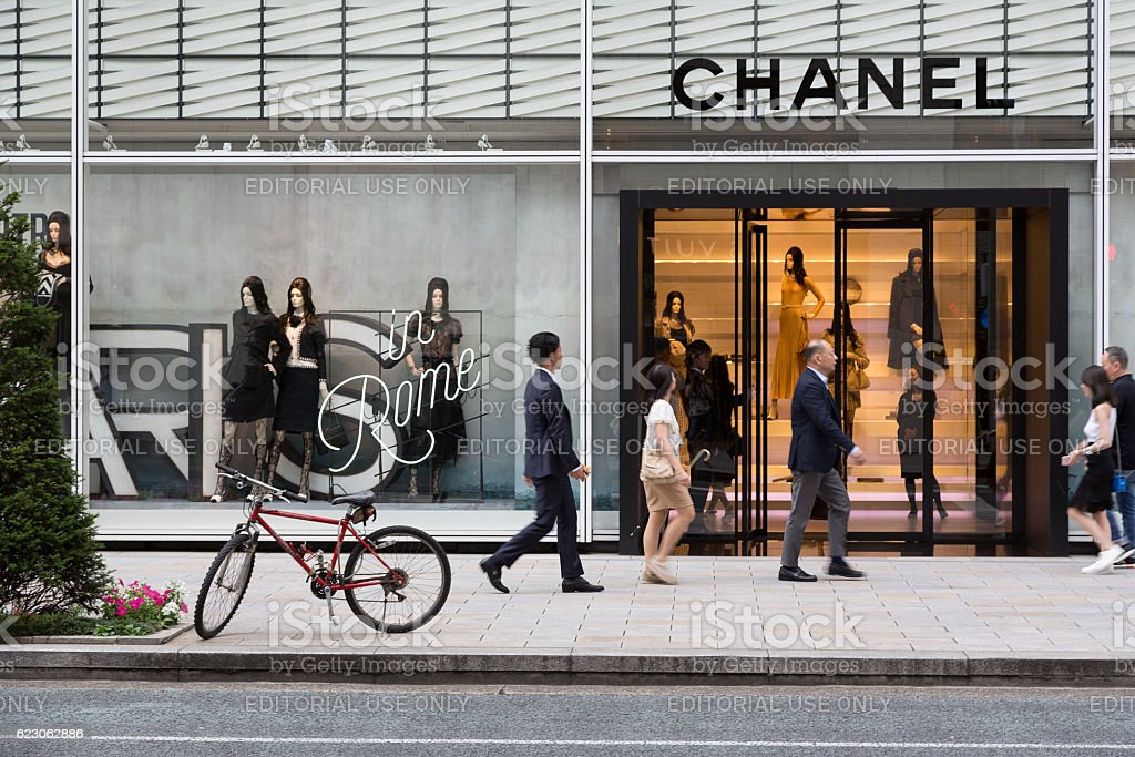 Chanel store Tokyo stock photo