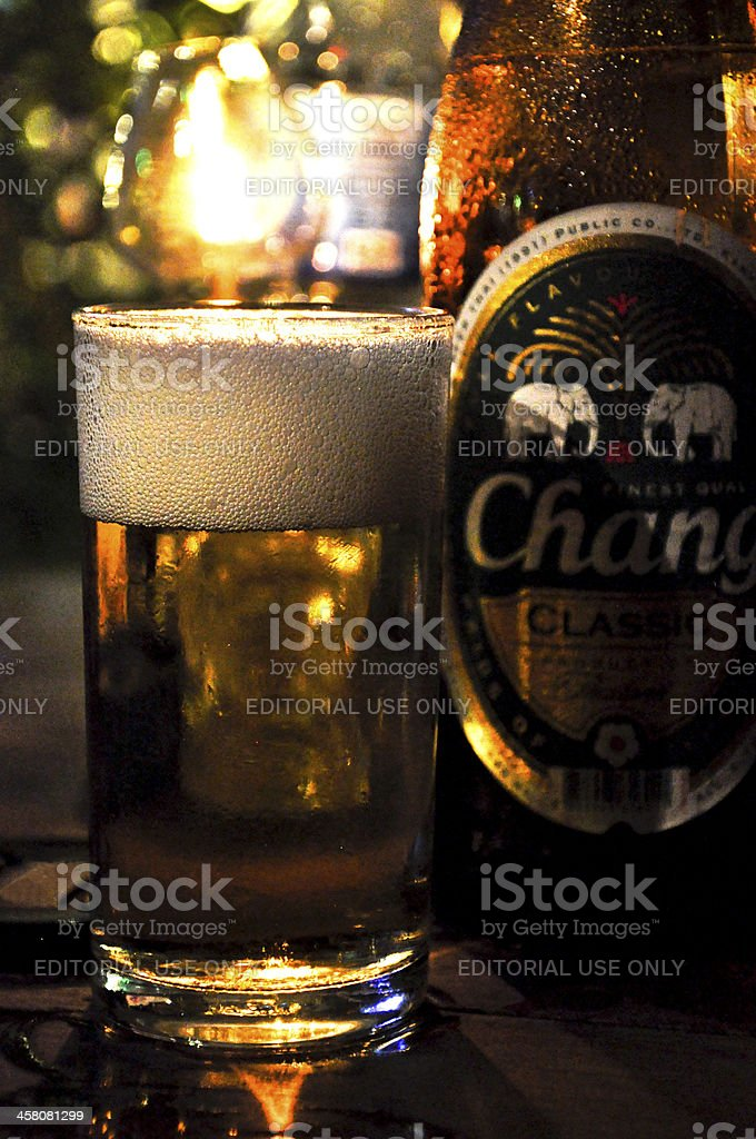Chang Beer in Thailand - Bar stock photo