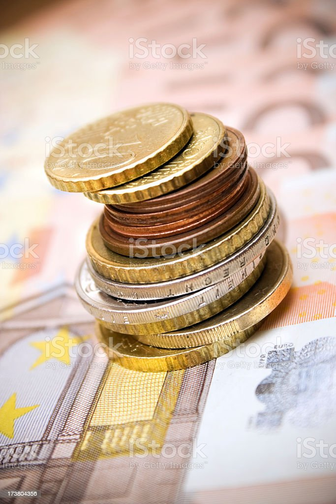 EU change and notes stock photo