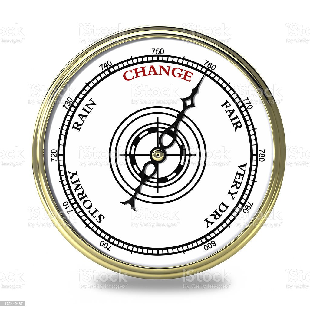 Change Barometer stock photo