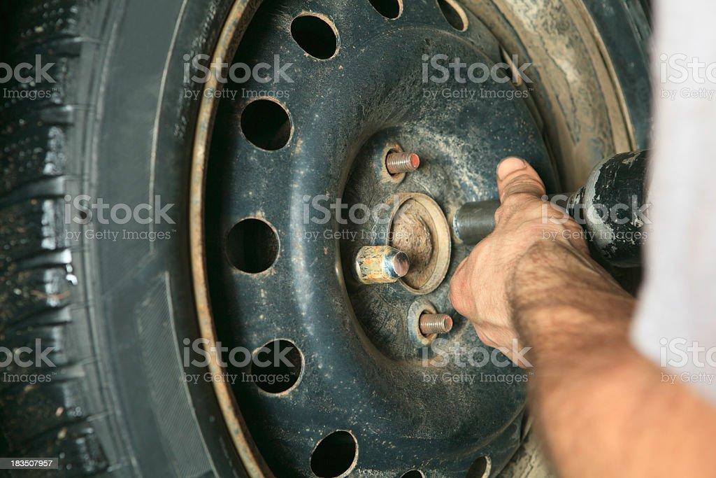 Change Car Tire royalty-free stock photo