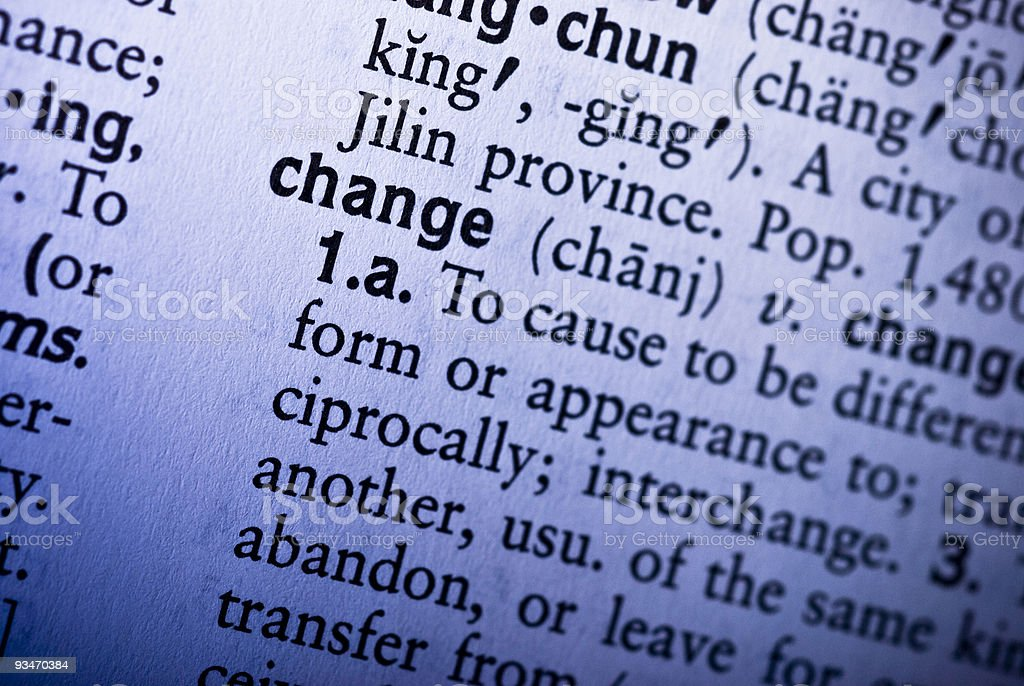 Change Definition (Blue Theme) royalty-free stock photo