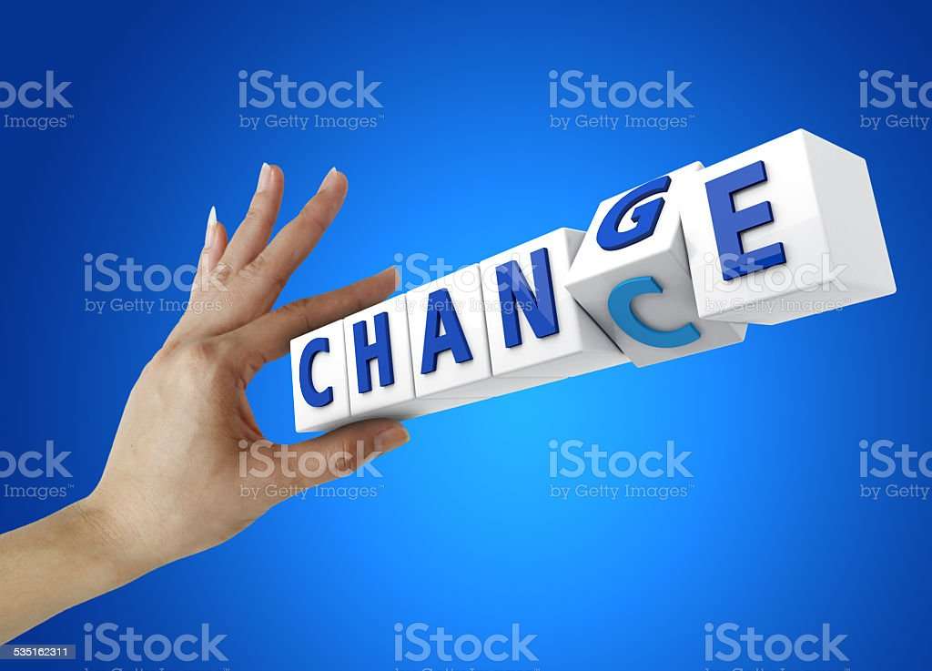 Change for Chance stock photo