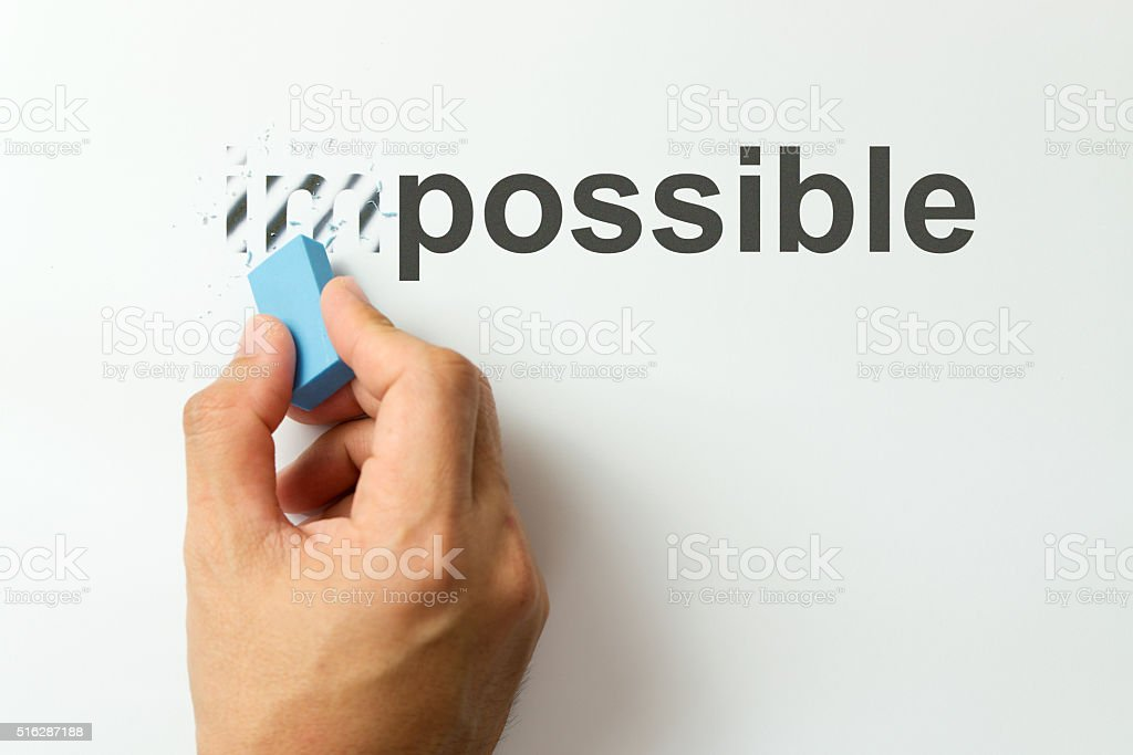 Change from impossible to the possible stock photo