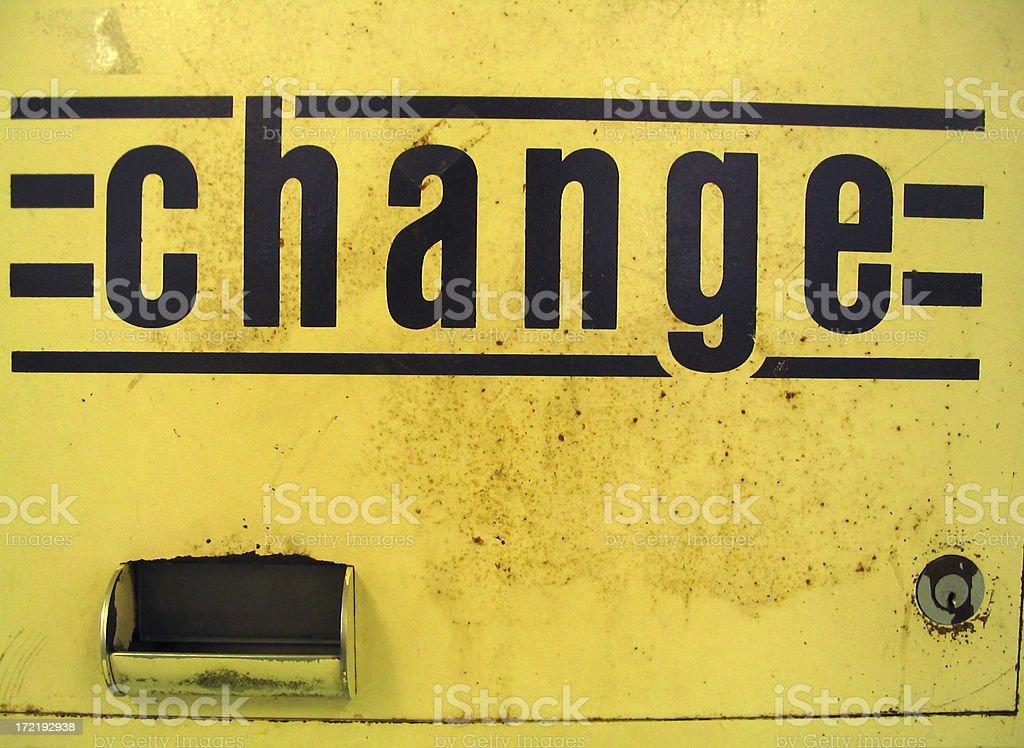 change I stock photo