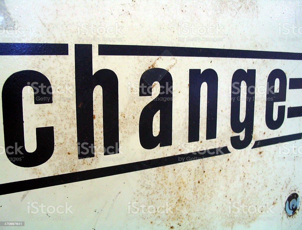 change II stock photo