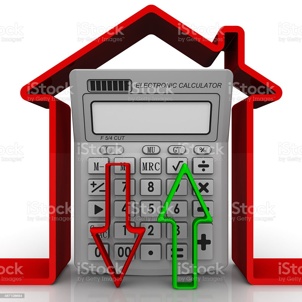 Change in property prices. Concept stock photo