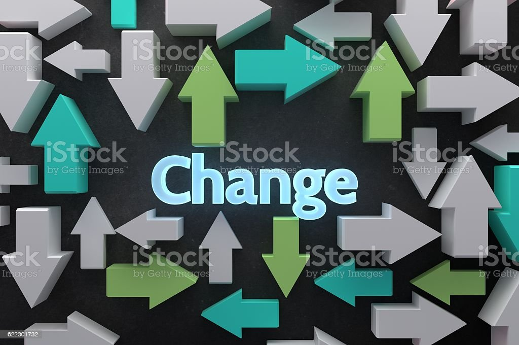 Change is constant stock photo