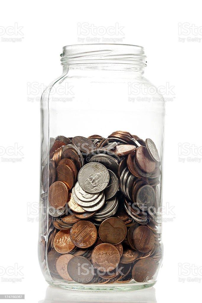 Change Jar royalty-free stock photo