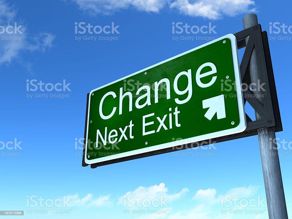 Change next exit royalty-free stock photo