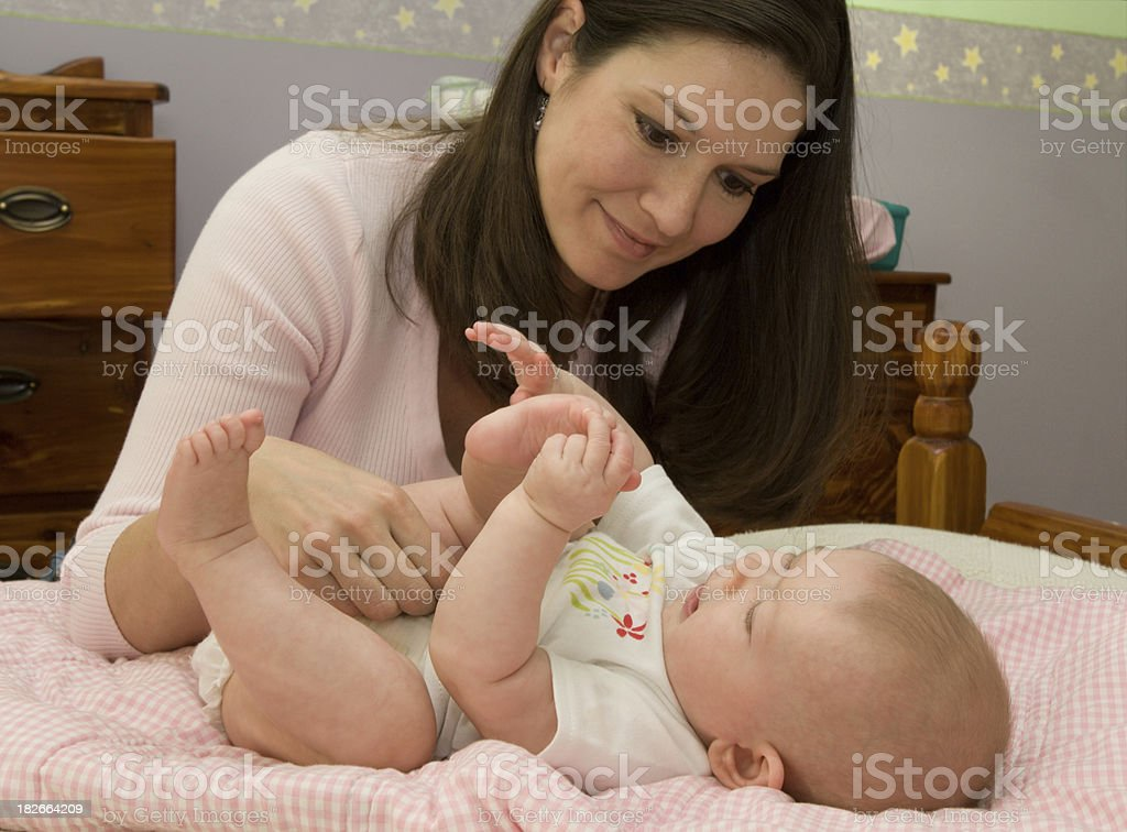 Change of clothes and diaper royalty-free stock photo