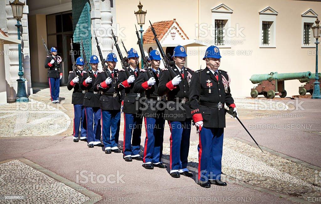 Change of Guardin Monte Carlo, Monaco. stock photo
