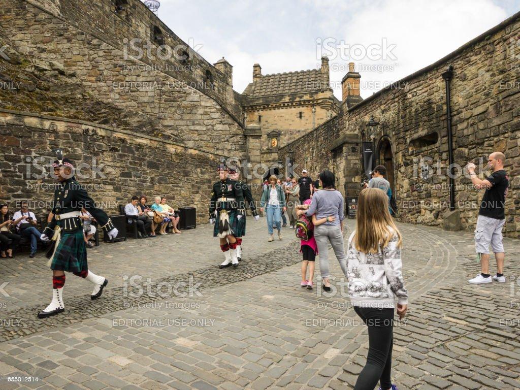 Change of guards at Edinburgh Castle stock photo
