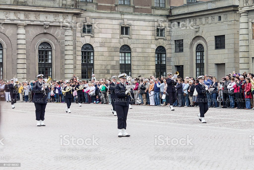 Change of Guards Stockholm Sweden stock photo