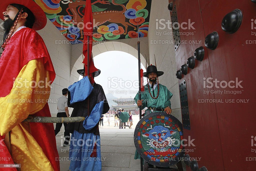 Change of Korean royal guards royalty-free stock photo