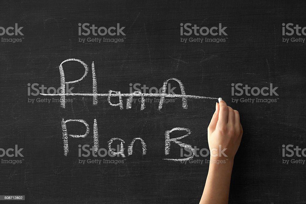 Change of plan stock photo
