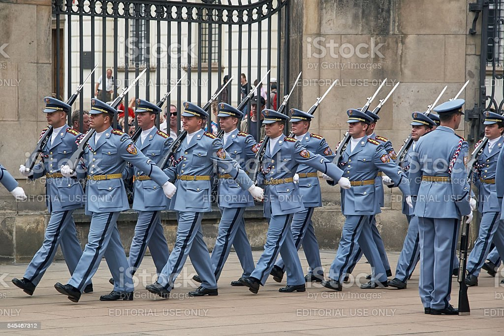Change of the guard of honor. stock photo